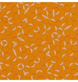 Jennifer Sampou Shimmer On, Hexies in Saffron, Fabric Half-Yards AJSP-17026-141