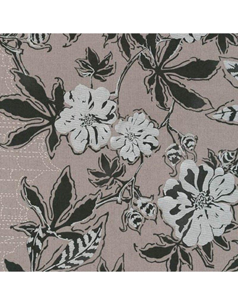Jennifer Sampou Shimmer On, Floral in Pewter, Fabric Half-Yards AJSP-17024-183