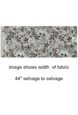 Jennifer Sampou Shimmer On, Floral in Pewter, Fabric Half-Yards AJSP-17024-183