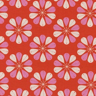 Cotton + Steel Beauty Shop, Shower Cap in Red C6006-01, Fabric Half-Yards