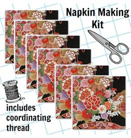 Picking Daisies Dinner Napkin Kit: Indochine, Gilded Botan in Black