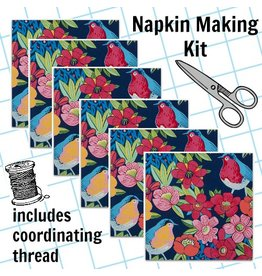 Picking Daisies Dinner Napkin Kit: In the Kitchen, Birdland in Navy