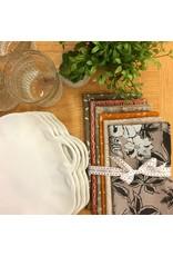 Jennifer Sampou Shimmer On, Hexies in Smoke, Fabric Half-Yards AJSP-17026-293