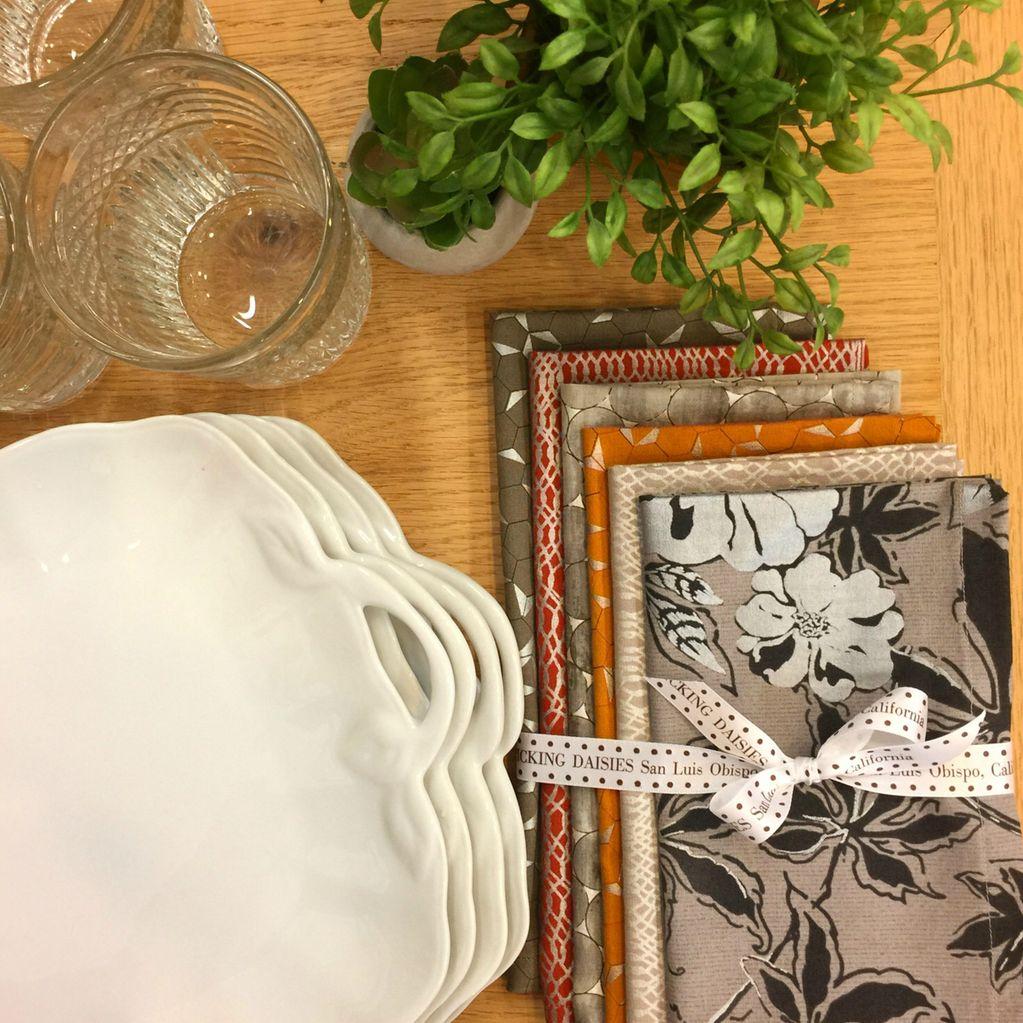 PD's Jennifer Sampou Collection Shimmer On, Net in Smoke with Metallic, Dinner Napkin