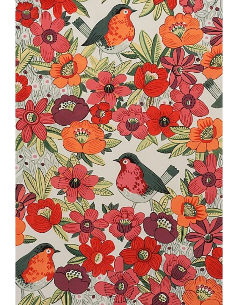 Alexander Henry Fabrics In the Kitchen, Birdland in Tea, Fabric Half-Yards 8534A