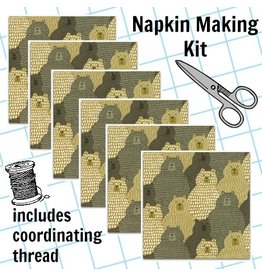 Picking Daisies Dinner Napkin Kit: Big Sky, Grizzly in Tan