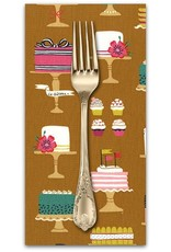 PD's Michael Miller Collection Bake Shop, Sweet Cakes in Cinnamon, Dinner Napkin