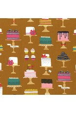Patty Sloniger Bake Shop, Sweet Cakes in Cinnamon, Fabric Half-Yards PS7428