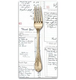 PD's Michael Miller Collection Bake Shop, Shop Receipts in Graphite, Dinner Napkin