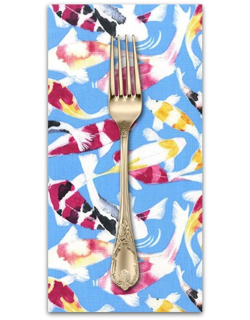 Picking Daisies Dinner Napkin Kit: Koi Garden, Koi Dance in Wave
