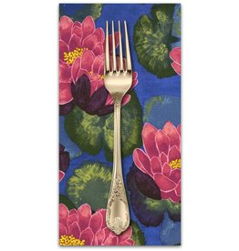 PD's Laura Gunn Collection Koi Garden, Blooming Lotus in Magenta, Dinner Napkin