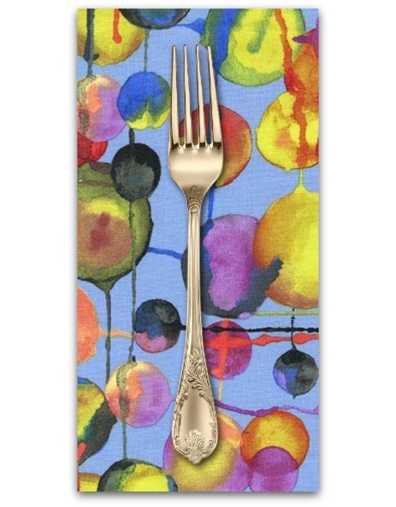 PD's Laura Gunn Collection Koi Garden, Bubbles in Blue, Dinner Napkin