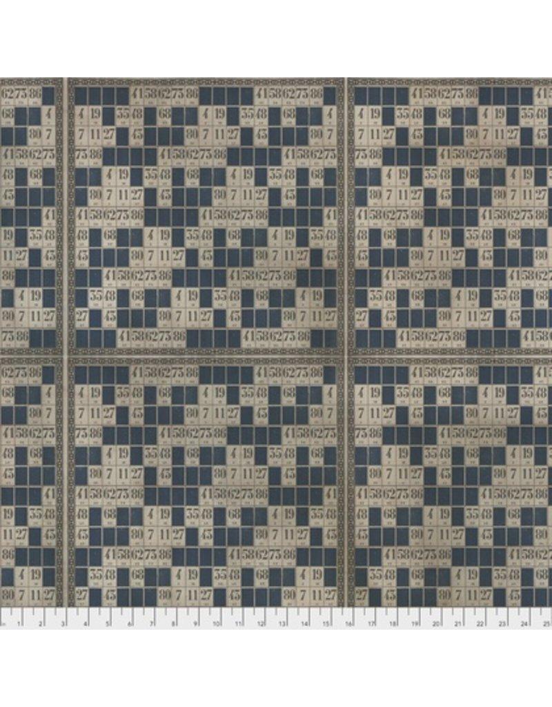 Tim Holtz Dapper, Game Cards in Blue, Fabric Half-Yards PWTH065