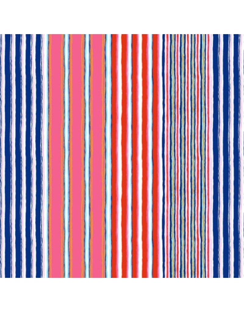 PD's Kaffe Fassett Collection Kaffe Collective Fall 2017, Regimental Stripe in Contrast, Dinner Napkin
