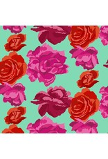 PD's Kaffe Fassett Collection Kaffe Collective Fall 2017, Rose Clouds in Aqua, Dinner Napkin