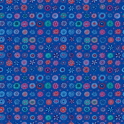 PD's Kaffe Fassett Collection Kaffe Collective Fall 2017, Whirligig in Blue, Dinner Napkin