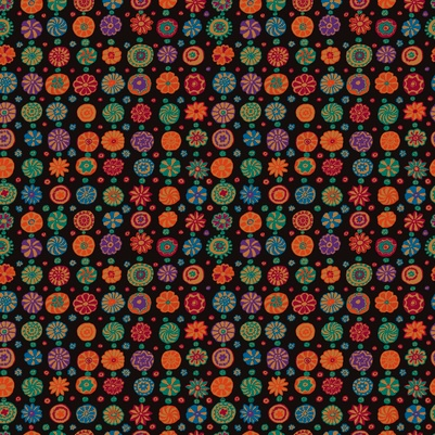 PD's Kaffe Fassett Collection Kaffe Collective Fall 2017, Whirligig in Black, Dinner Napkin