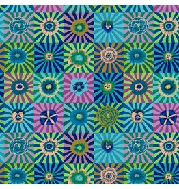 Kaffe Fassett Kaffe Collective Fall 2017, Sunburst in Blue, Fabric Half-Yards  PWGP162