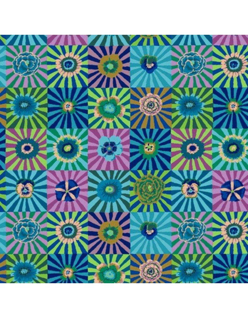 Kaffe Fassett Kaffe Collective Fall 2017, Sunburst in Blue, Fabric Half-Yards  PWGP162