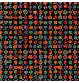 Kaffe Fassett Kaffe Collective, Whirligig in Black, Fabric Half-Yards  PWGP166