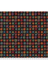 Kaffe Fassett Kaffe Collective Fall 2017, Whirligig in Black, Fabric Half-Yards  PWGP166