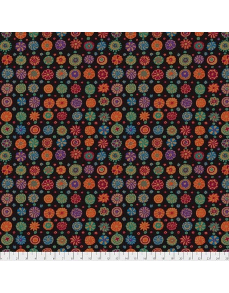 Kaffe Fassett Kaffe Collective Fall 2017, Whirligig in Black, Fabric Half-Yards  PWGP166