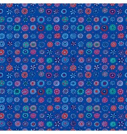 Kaffe Fassett Kaffe Collective Fall 2017, Whirligig in Blue, Fabric Half-Yards  PWGP166