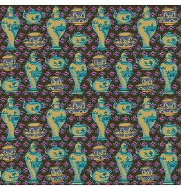 Kaffe Fassett Kaffe Collective, Delft Pots in Brown, Fabric Half-Yards  PWGP165