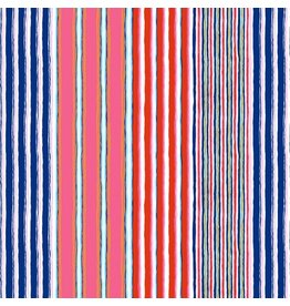 Kaffe Fassett Kaffe Collective Fall 2017, Regimental Stripe in Contrast, Fabric Half-Yards  PWGP163