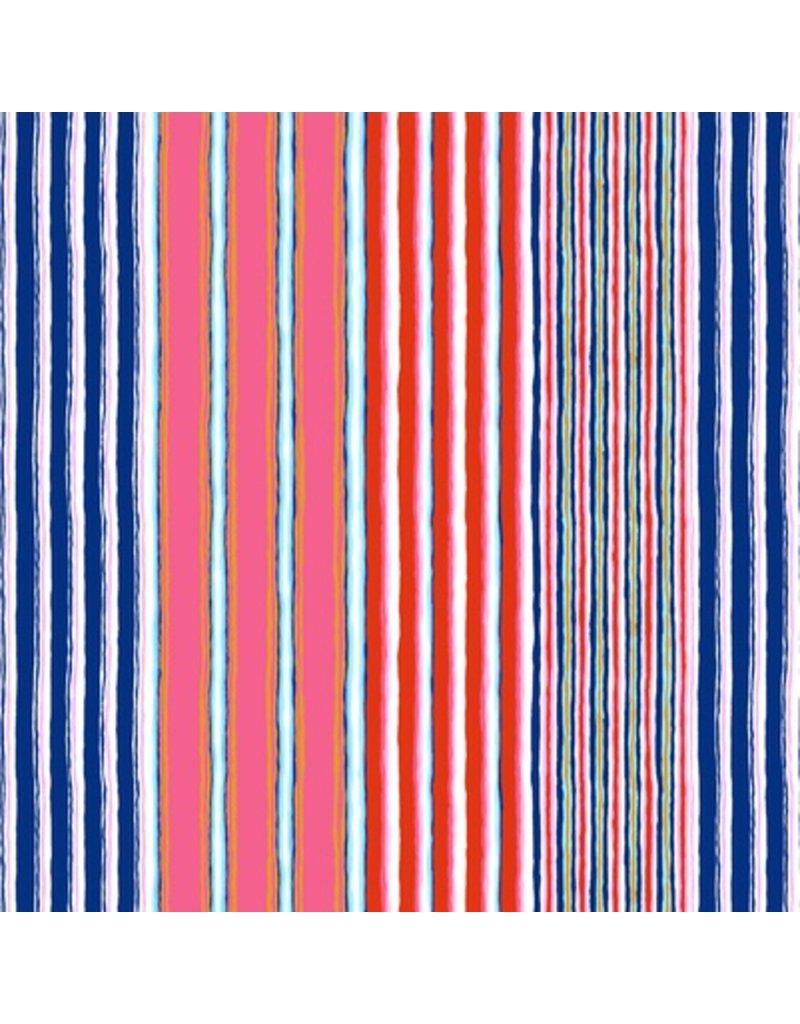 Kaffe Fassett Kaffe Collective Fall 2017, Regimental Stripe in Contrast, Fabric Half-Yards  PWGP163