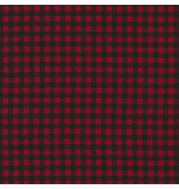 Timeless Treasures Fun, Plaid in Red, Fabric Half-Yards C5576