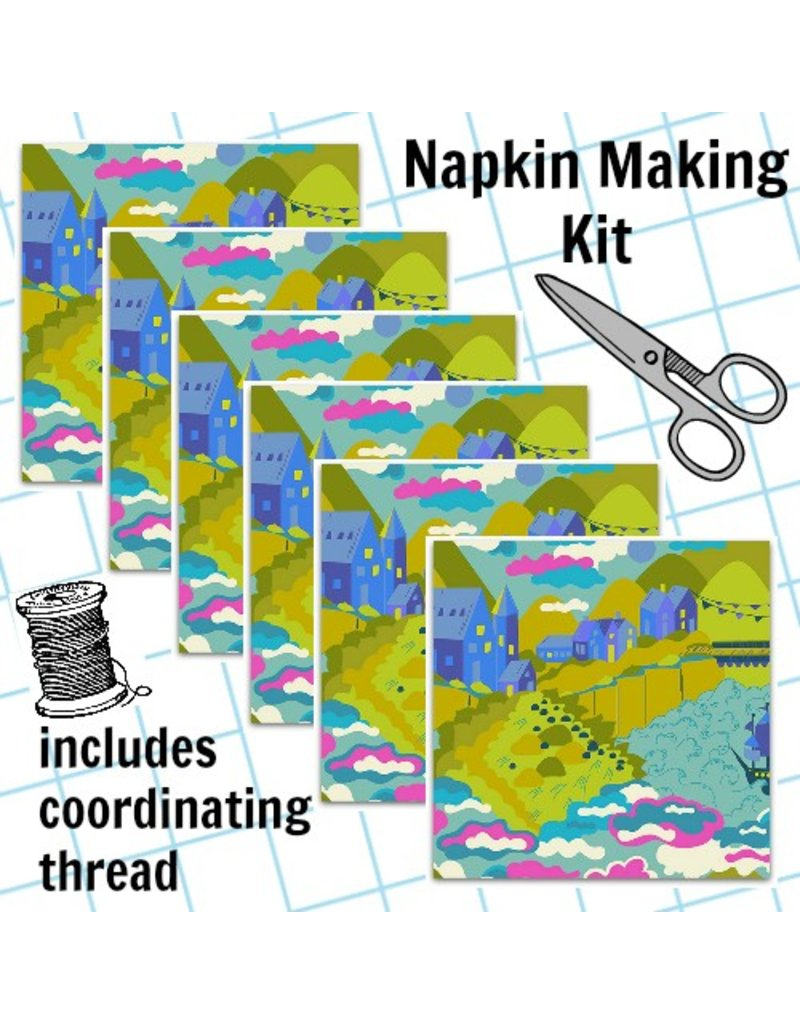 Picking Daisies Dinner Napkin Kit: Diving Board, Lilliput in Sunset