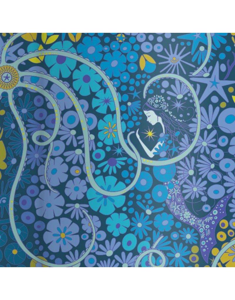 Alison Glass Diving Board, Lagoon in Pearl, Fabric Half-Yards A-8634-B
