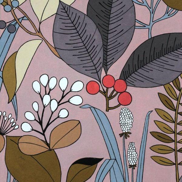 Alexander Henry Fabrics The Ghastlies, A Ghastlie Botanical in Deadly Mauve, Fabric Half-Yards 8594A
