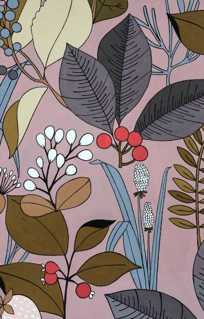 PD's Alexander Henry Collection A Ghastlie Botanical in Deadly Mauve, Dinner Napkin
