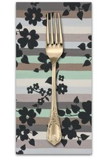 PD's Alexander Henry Collection A Ghastlie Stripe in Sage Gray, Dinner Napkin