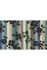 Alexander Henry Fabrics The Ghastlies, A Ghastlie Stripe in Potion Blue, Fabric Half-Yards 8595B
