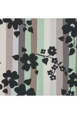 Alexander Henry Fabrics The Ghastlies, A Ghastlie Stripe in Sage Gray, Fabric Half-Yards 8595C