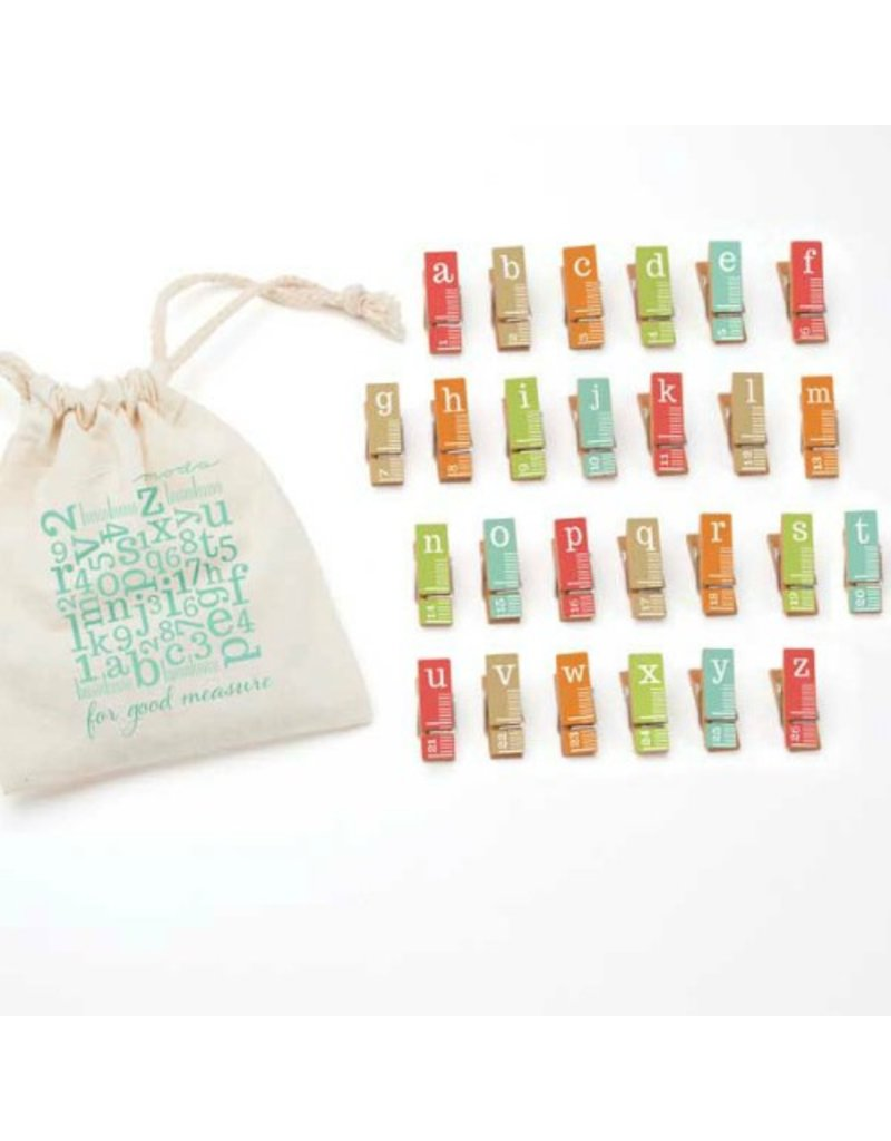 Mini Clothes Pins, For Good Measure in Bright, 26 pins
