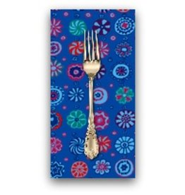PD's Kaffe Fassett Collection Kaffe Collective, Whirligig in Blue, Dinner Napkin