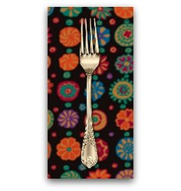 PD's Kaffe Fassett Collection Kaffe Collective, Whirligig in Black, Dinner Napkin