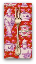 PD's Kaffe Fassett Collection Kaffe Collective, Delft Pots in Red, Dinner Napkin