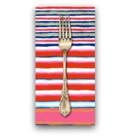 PD's Kaffe Fassett Collection Kaffe Collective, Regimental Stripe in Contrast, Dinner Napkin