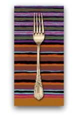 PD's Kaffe Fassett Collection Kaffe Collective Fall 2017, Regimental Stripe in Dark Dinner Napkin