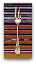 PD's Kaffe Fassett Collection Kaffe Collective, Regimental Stripe in Dark Dinner Napkin