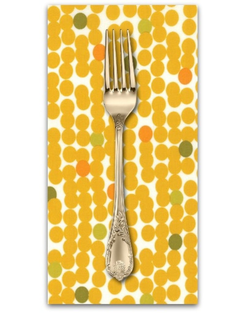 Picking Daisies Dinner Napkin Kit: Fragile, Big Dots in Chalk Mustard