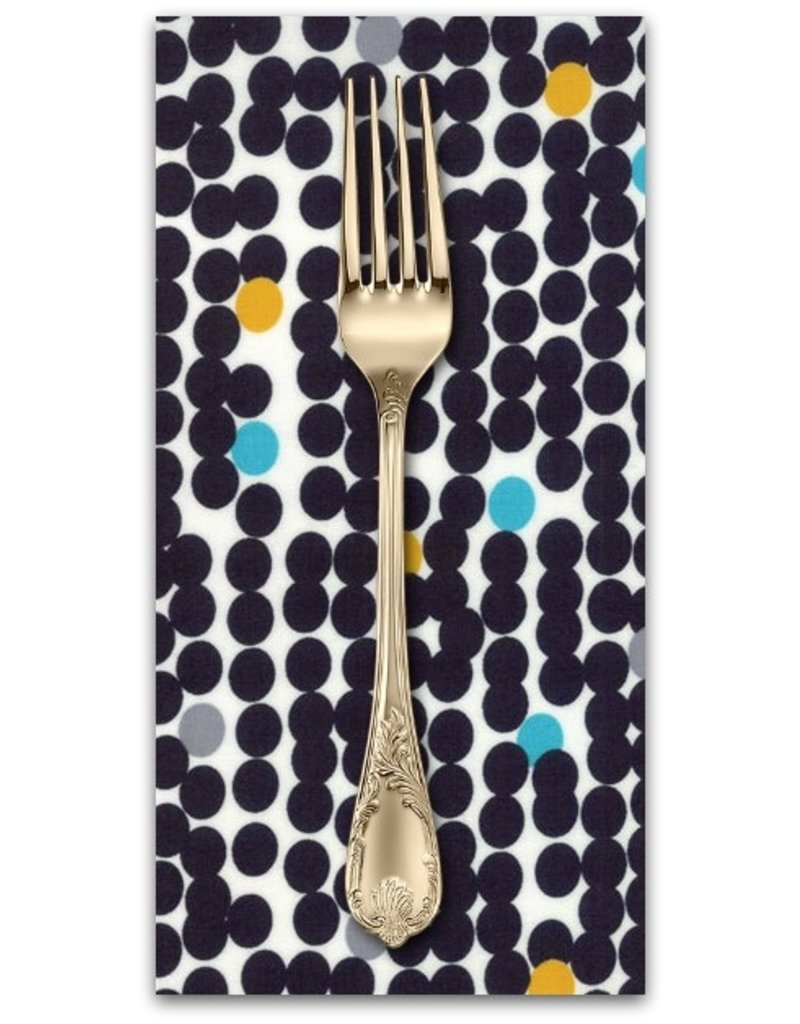 Picking Daisies Dinner Napkin Kit: Fragile, Big Dots in Black