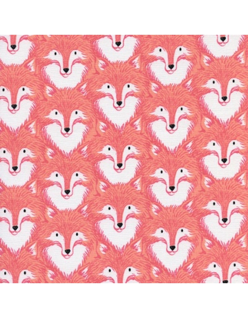 PD's Sarah Watts Collection Magic Forest, Foxes in Coral, Dinner Napkin