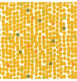 Zen Chic Fragile, Big Dots in Chalk Mustard, Fabric Half-Yards 1635 13