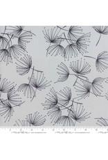 Zen Chic Fragile, Dandelion in Zen Grey, Fabric Half-Yards 1630 15